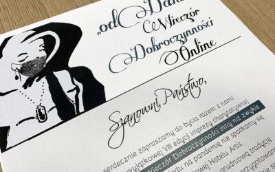 """VIII edycja Wieczoru Dobroczynności """"odDAM"""" online"""